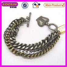Precio de fábrica competitivo de oro macizo pulsera para hombre con especial forma de la corona broche #31044