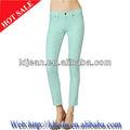 2014 skinny jeans de moda de color stretch jeans para mujer( ldant13)