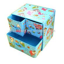 de dibujos animados no tejido misceláneas plegable caja de almacenamiento