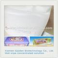 libre de alcohol antibacterial Toallitas húmedas líquido químico para el bebé y adulto