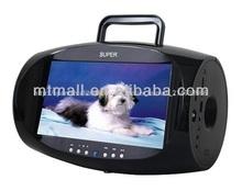 """Portátil de dvd reproductor de boombox con 7.5"""" la función de tv, juego y fm"""