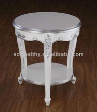 Mueblesdelhotel/pequeña mesa auxiliar/blanco tallado pequeño clásico mesa de café mg-8032