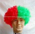 máquina completa feita ventilador's verde sintético perucas curtas perucas afro
