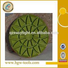 diamante círculo de granito del piso almohadillas de pulido