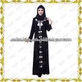 mejor calidad negro abaya arabia mf20870 túnicas mujer