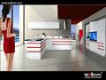moderno lacado blanco gabinete de cocina