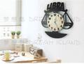 black madeira equilíbrio design decalque adesivo relógiosdeparede hd060