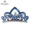 Hecho a mano de lujo de cristal novia corona corona de lujo de la corona de la boda la novia corona tiaras/diademas