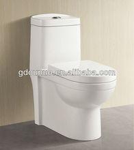 Cuarto de baño de cerámica tocador de una pieza s-trampa de 3139
