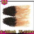 venta al por mayor 2014 virgen brasileña de dos tonos ombre tejido de pelo remy