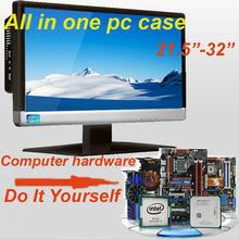 """Todo en una caja de la pc para el escritorio de la computadora con 21.5"""" monitor led bricolaje su computadora de hardware para"""