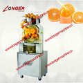 Naranja automático que hace la máquina de jugo