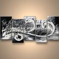 venta al por mayor abstracta hecha a mano decoración de la pared de acrílico gris de pintura al óleo