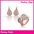 venta al por mayor de piedras preciosas de color rosa joyería de acero inoxidable fijado para proveedor de china