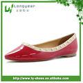 con estilo 2013 charol rojo damas al por mayor de china zapato plano