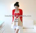 Estilo coreano vestido de maternidad embarazo twinset ropa chaqueta de punto rojo coat+ chaleco superior