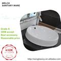 617 Semi-encimera de cerámica montar lavabo del arte