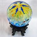 G001 redonda bola de cristal, artesanías de vidrio, 13cm diámetro de la bola de cristal, bolas de cristal decoración