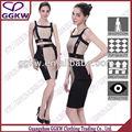 nuevos vestidos de moda de cuero 2014 dos piezas vestido de vendaje