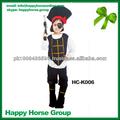 2014 wolesale precio barato de halloween de fantasía de los niños del caribe csotumes traje de pirata, pirata de cosplay