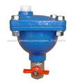 La válvula de aire, orificio único, con válvula de aislamiento