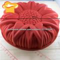 em forma de flor bolo de molde de silicone