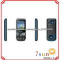 tv celular Q7 GSM Quad Band Dual SIM del teléfono TV abrió el teléfono móvil