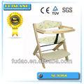 bebé de madera de comedor silla de bebé de seguridad silla de la cena