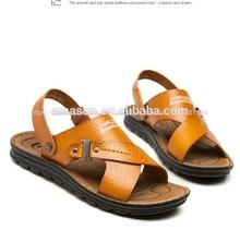 2014 de moda nuevo diseño de cuero al por mayor baratos de china apartamento sandalias de verano sandalia de los hombres