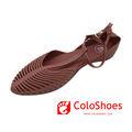 elegante bata mujeres de las sandalias