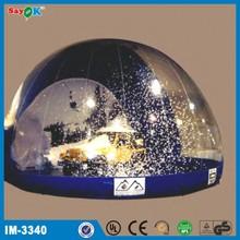2014 fantásticas decorações bola de neve inflável
