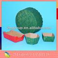 Invólucros cupcake com óleo prova de materiais de papel e filme pet revestida interna,