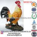 resina gallo estatua del jardín para la decoración