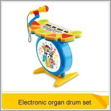 caliente de órgano electrónico teclado y el tambor de conjunto para los niños oc0190456