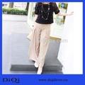 2014 nueva moda elegante de pierna ancha de gasa largo pantalones palazzo pantalones