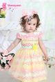 Vestidos de cumpleaños de material de algodón 100% para los bebés, los niños de diseño de moda de ropa