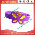 En la venta a granel de la mariposa de silicona pulsera/pulsera para ropa de deporte de promoción
