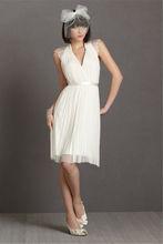 vaina / columna cariño tribunal tren gasa vestido de novia de encaje LY-007