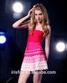 vermelho ao rosa ombre strapless vestido de festa na china