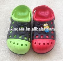 nova moda colorida sandália tamancos para crianças