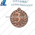 hueco fuera de número de cobre medalla para la adjudicación
