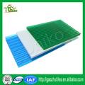 Uv- proteção de alta qualidade e baixo preço prova de fogo anti- nevoeiro corrugado twin- parede transparente folha oca preço