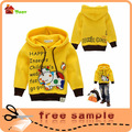 amostra grátis de casaco com capuz meninas fabricante de roupas de vestuário infantil china