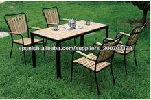 Madera moderno al aire libre muebles del patio