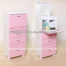 el color de rosa baratos tocadores de maquillaje con espejo incluido mesa y una silla