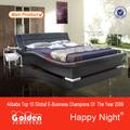 El último diseño de muebles de cama con cabecera iluminada( 2876b#)