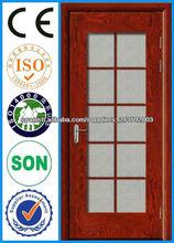 2013 nuevo marco de cristal Puerta de madera puertas