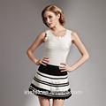 u cou robe blanche et noire femmes mature belle robe bandage