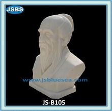 chinois célèbre mâle blanc buste en marbre sculpté