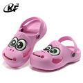 Eva zuecos de dibujos animados, holey obstruir los niños zapatos, zuecos sandalias para niños